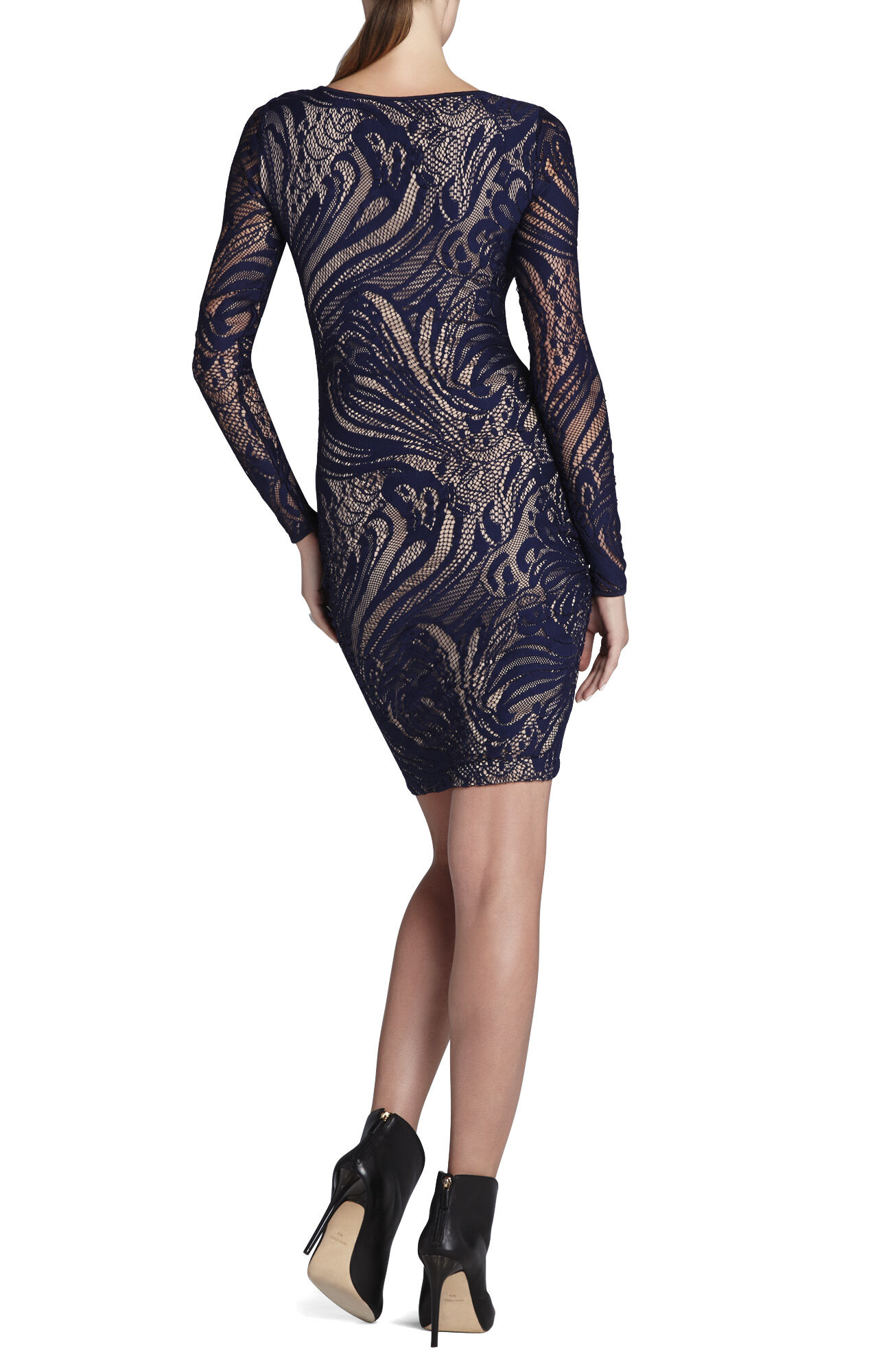 Vivia Long-Sleeve Lace Dress