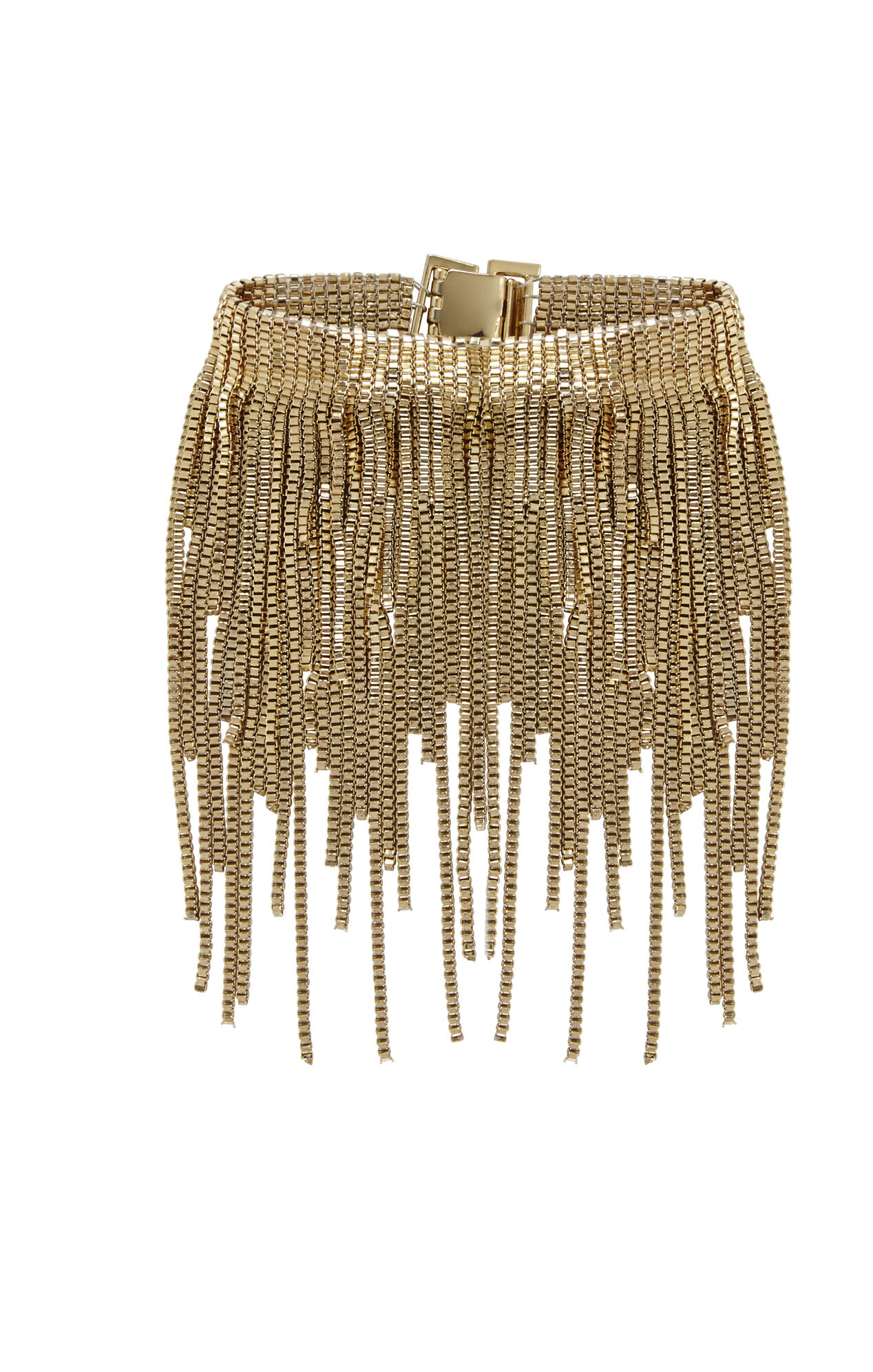 Box-Chain Fringe Bracelet