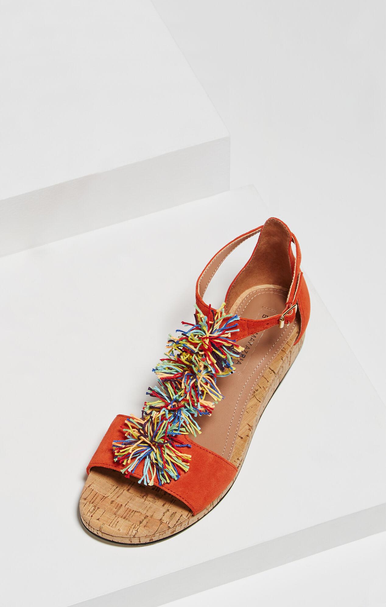 Delfina Pom-Pom T-Strap Sandal