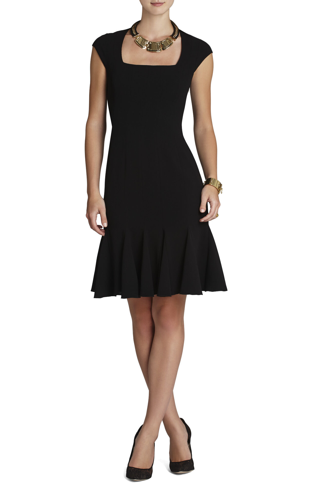 Farrah Square-Neck Dress