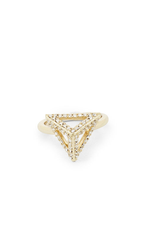Pave Triangle Pyramid Ring
