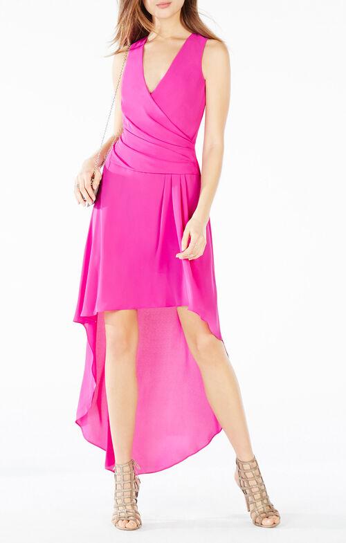 Abey High-Low Wrap Dress