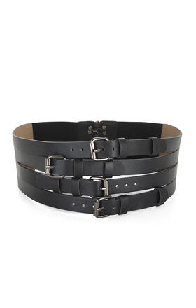 Multistrap-Buckle Waist Belt