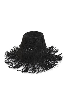 Woven Fringe Hat