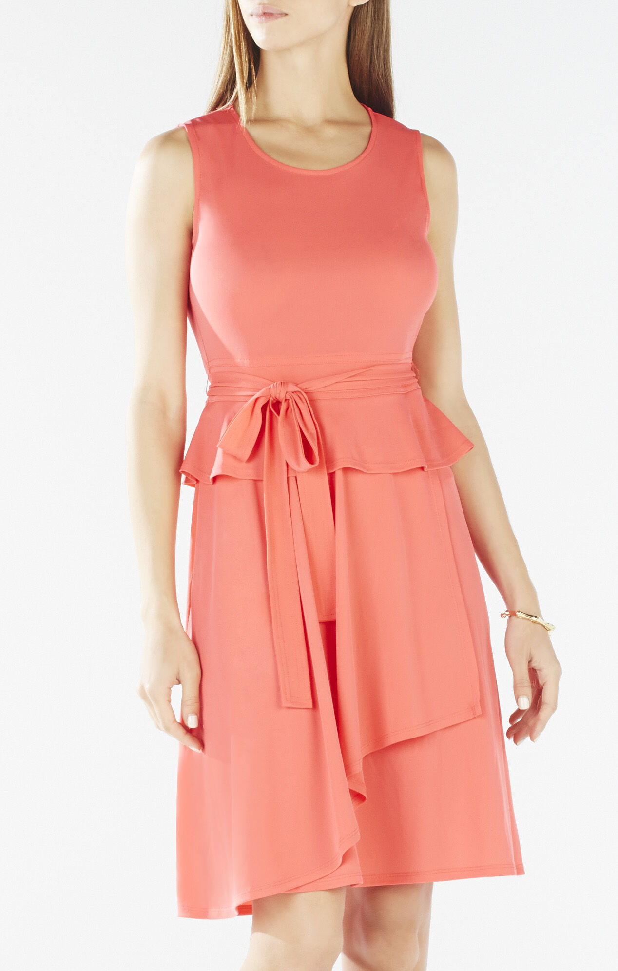 Lissa Asymmetrical Peplum Wrap Dress