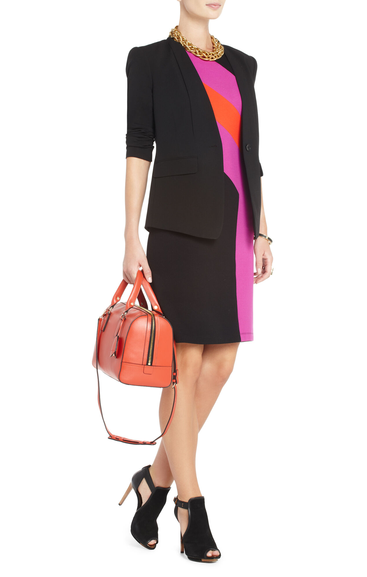 Gladys Color-Blocked Sheath Dress