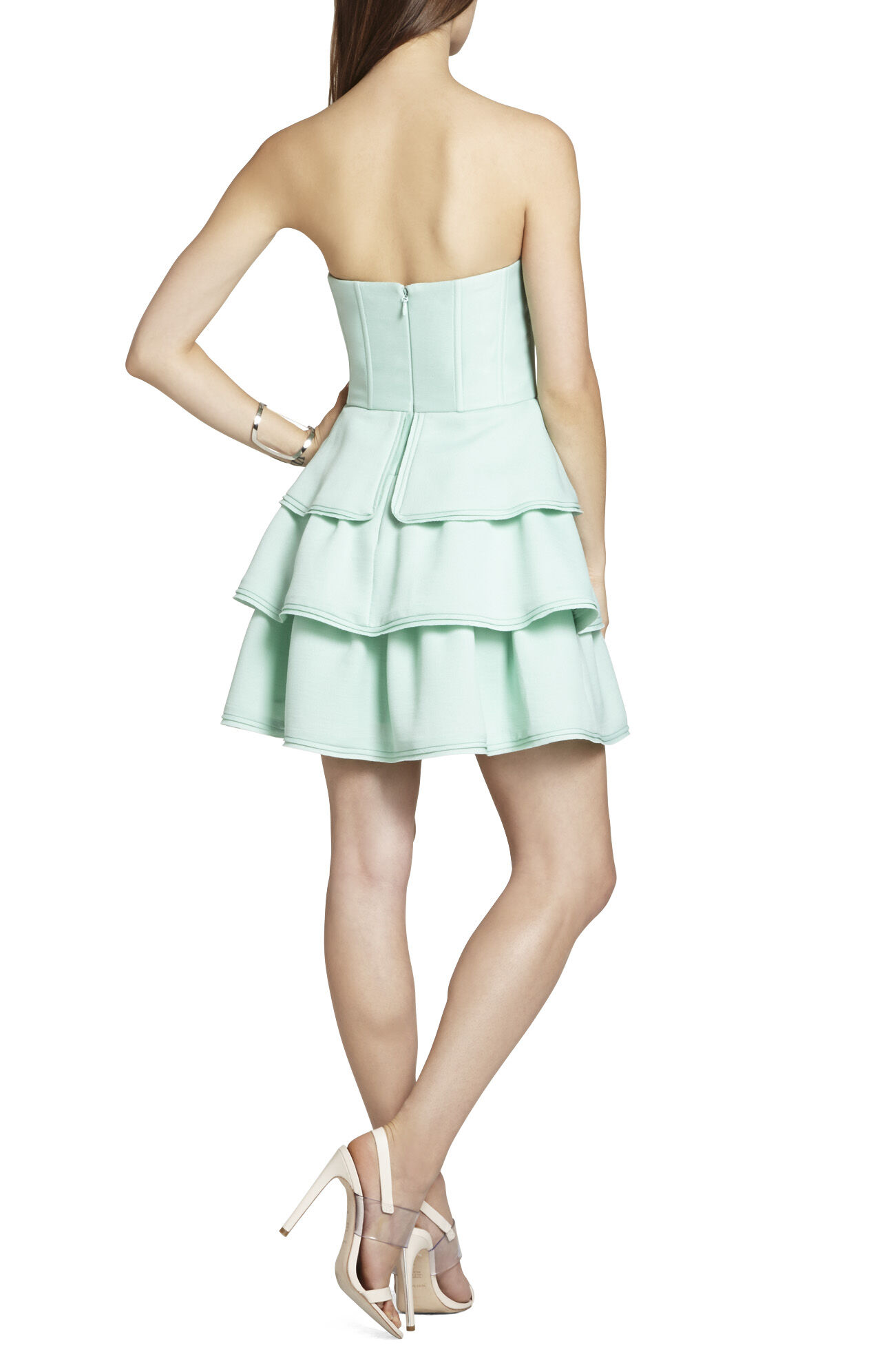 Jacklyn Sleeveless Tiered Ruffle-Skirt Dress