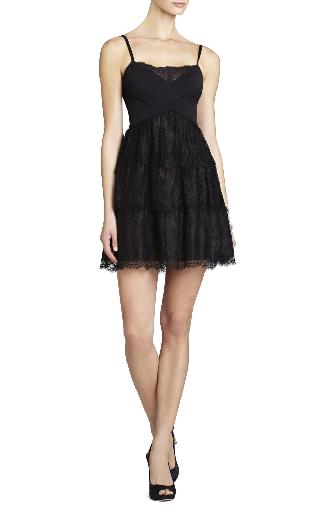 Josanna Lace Dress With Ponte Bodice