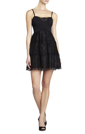 Josanna Lace Dress With Ponte Bodice