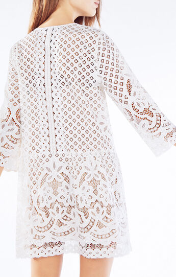 Laurice Floral Lace Tunic Dress