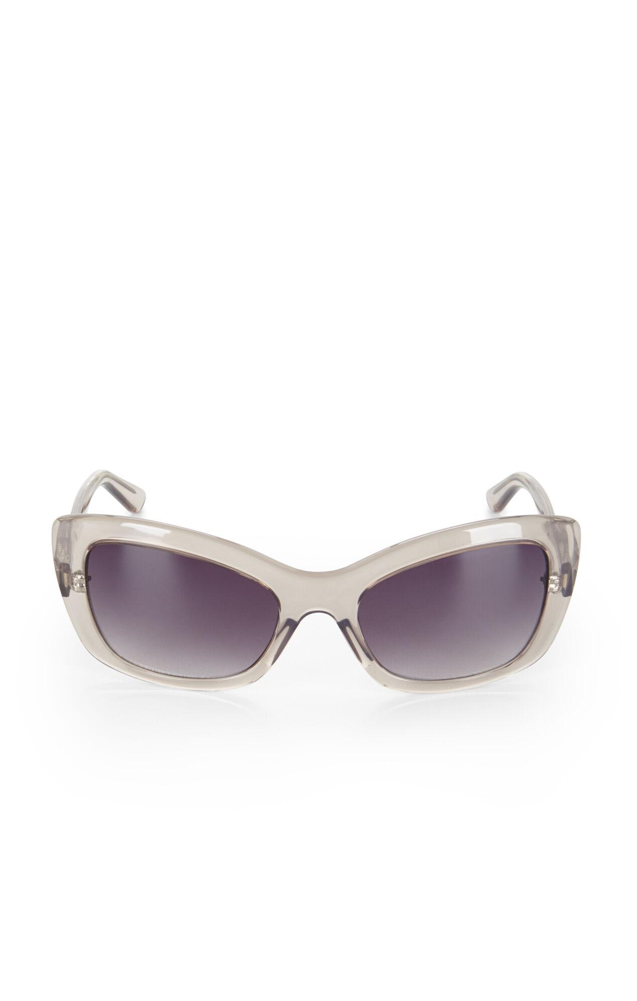 Clear Cat-Eye Sunglasses