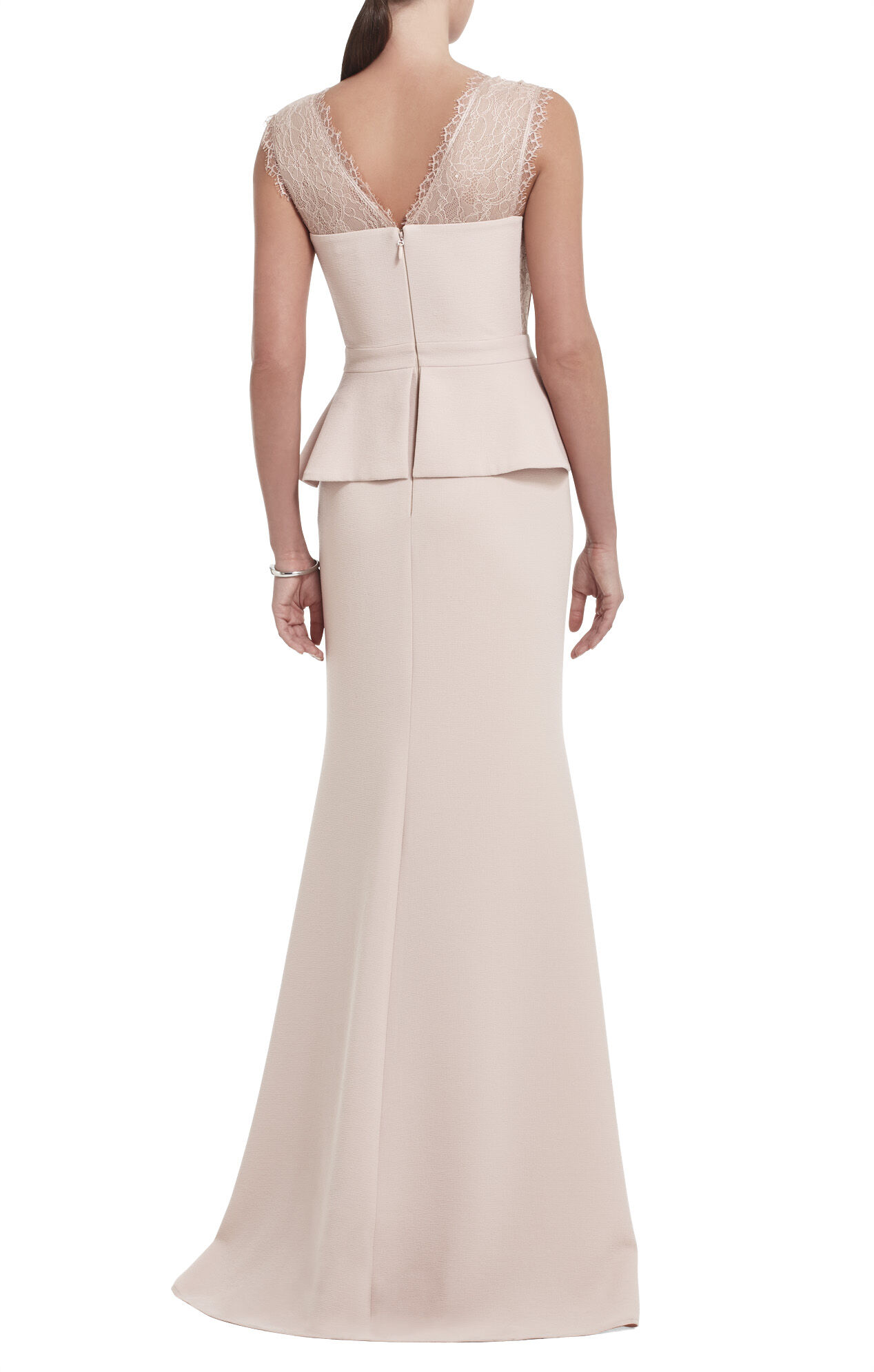 Mirannda Sleeveless Fit-and-Flare Gown