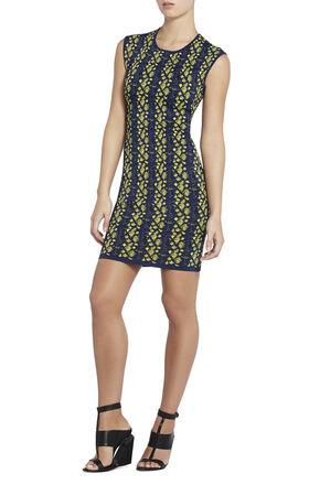 Jose Python Jacquard Dress