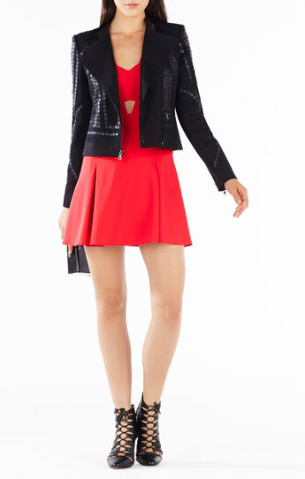 Jaison Sequined Moto Jacket