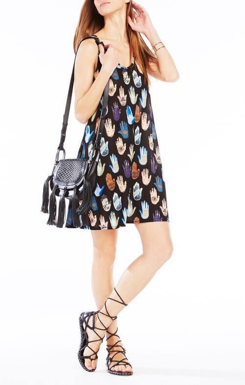 Tessah Hamsa Print Tank Dress