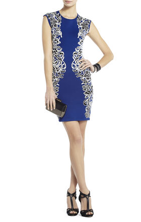 Ellena Jacquard Lace Dress