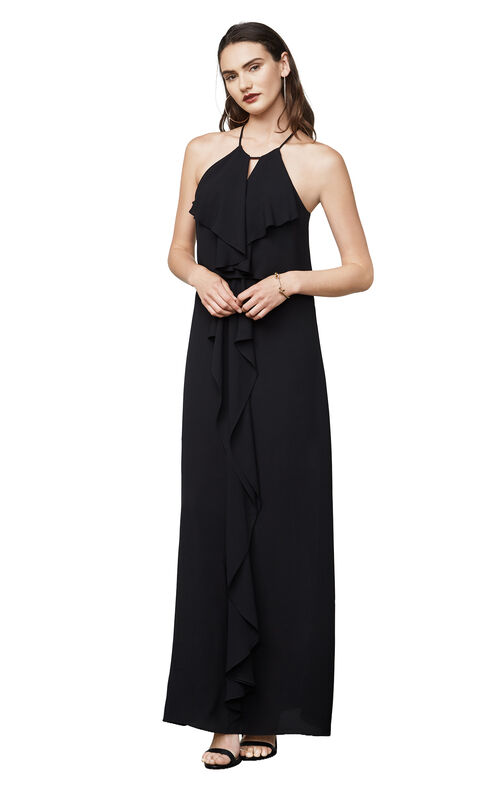 Jansia Ruffled Halter Gown