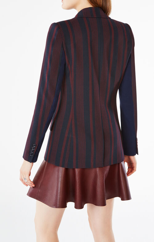 Stephan Pinstriped Boyfriend Blazer