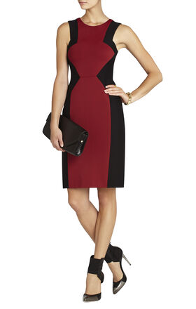 Evelyn Blocked Sheath Dress