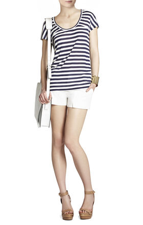 Riley Striped Short-Sleeve Top
