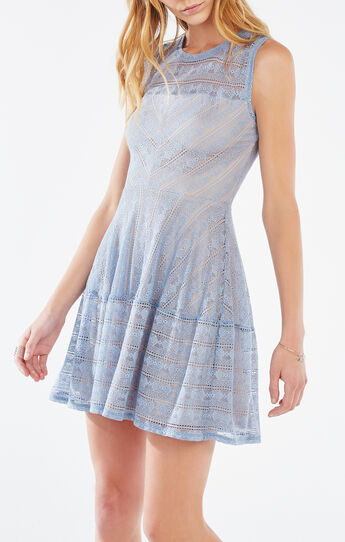 Cassandra Striped Lace Dress