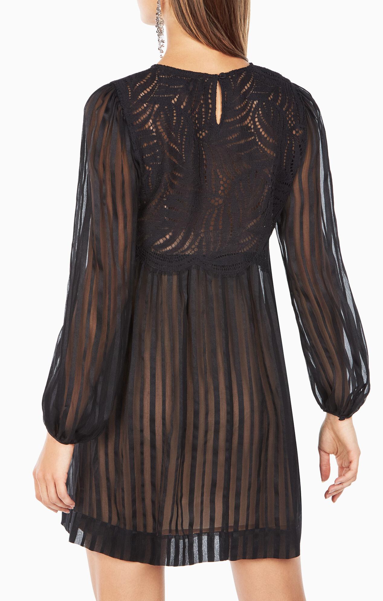 Astrid Striped Silk Dress