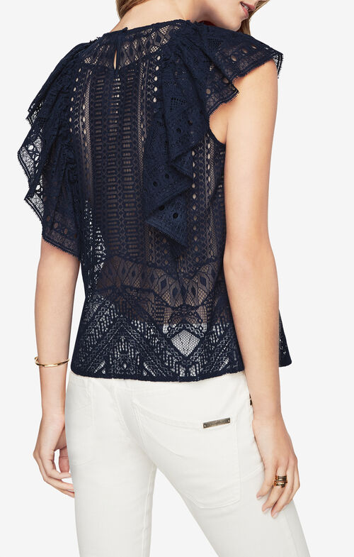 Nishka Ruffled Lace Top