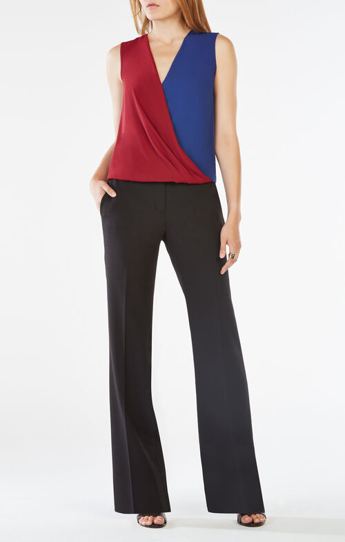 Antonella Color-Blocked Wrap Top