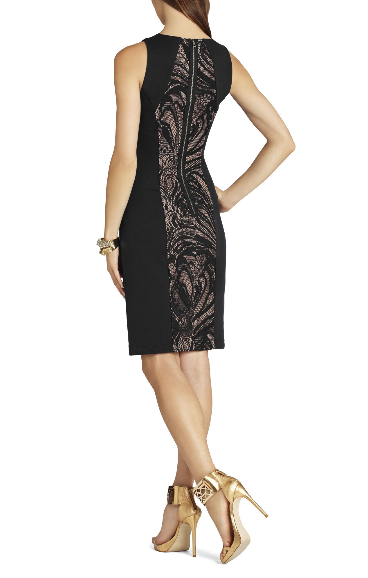 Leona Lace Dress With Contrast Ponte