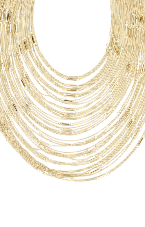Multi Layered Bar Chain Necklace