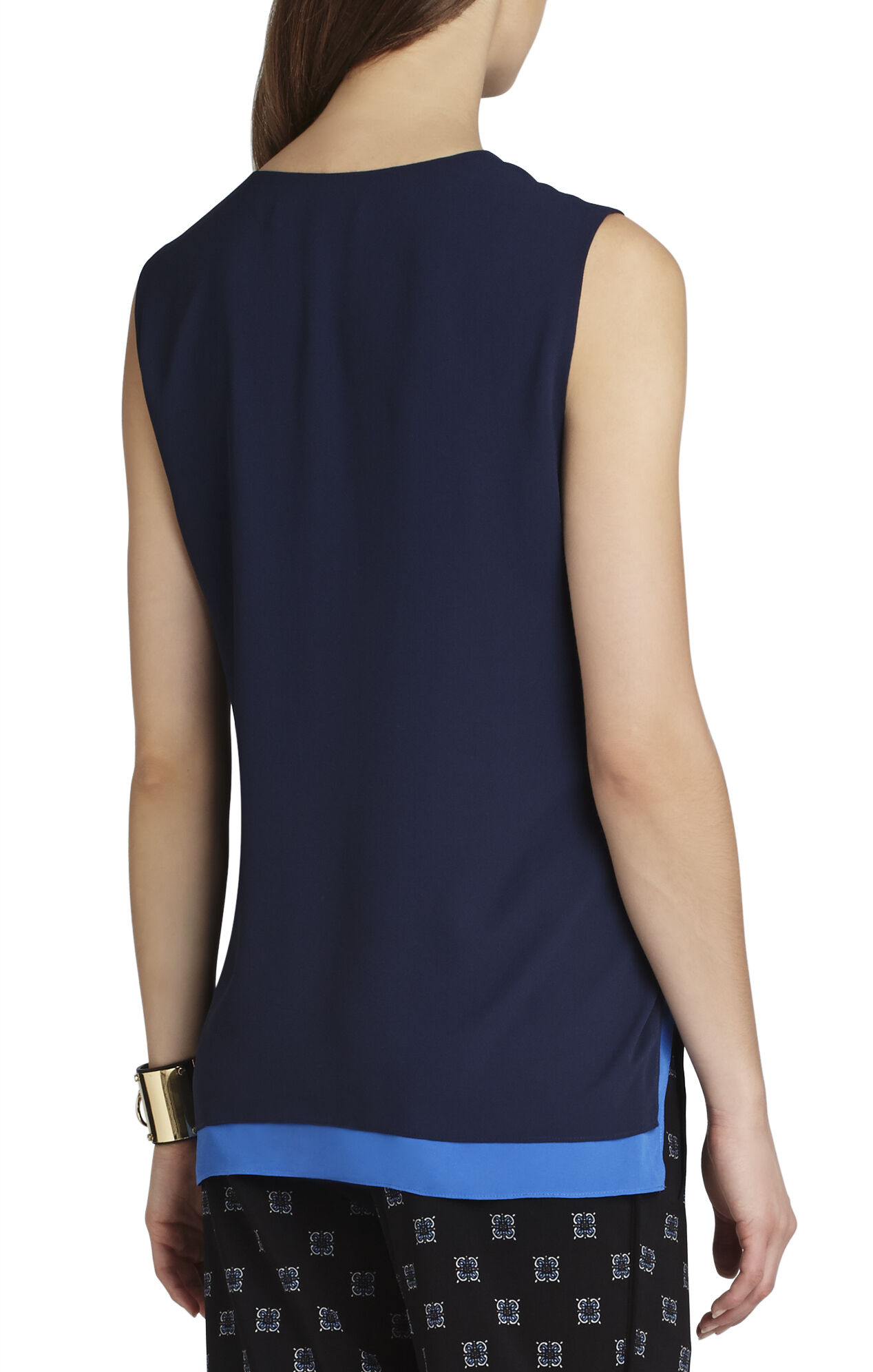 Jamysen Sleeveless Asymmetrical-Hem Top