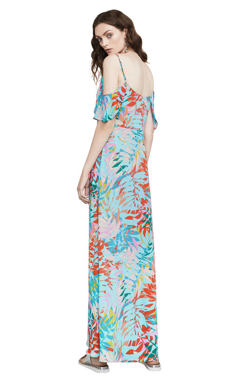 Colinne Tropical-Print Maxi Dress