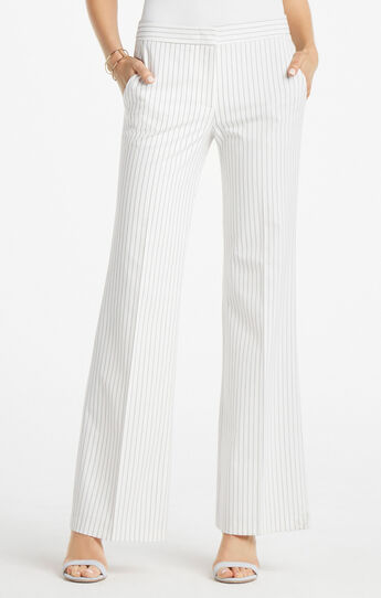 Brandon Pinstriped Flared Trouser