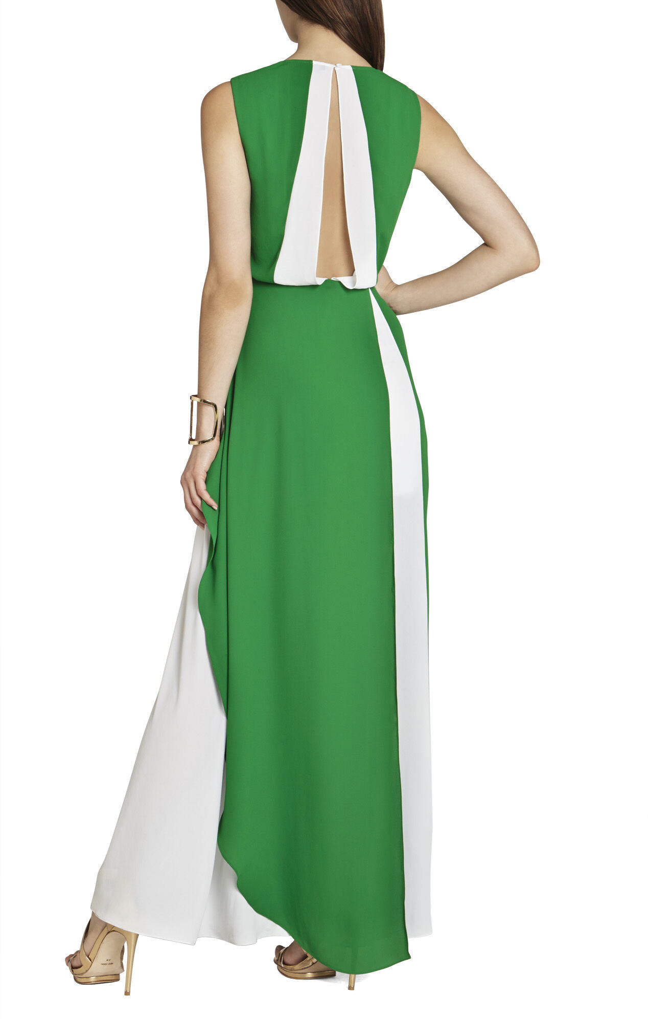 Yuliana V-Neck Evening Dress