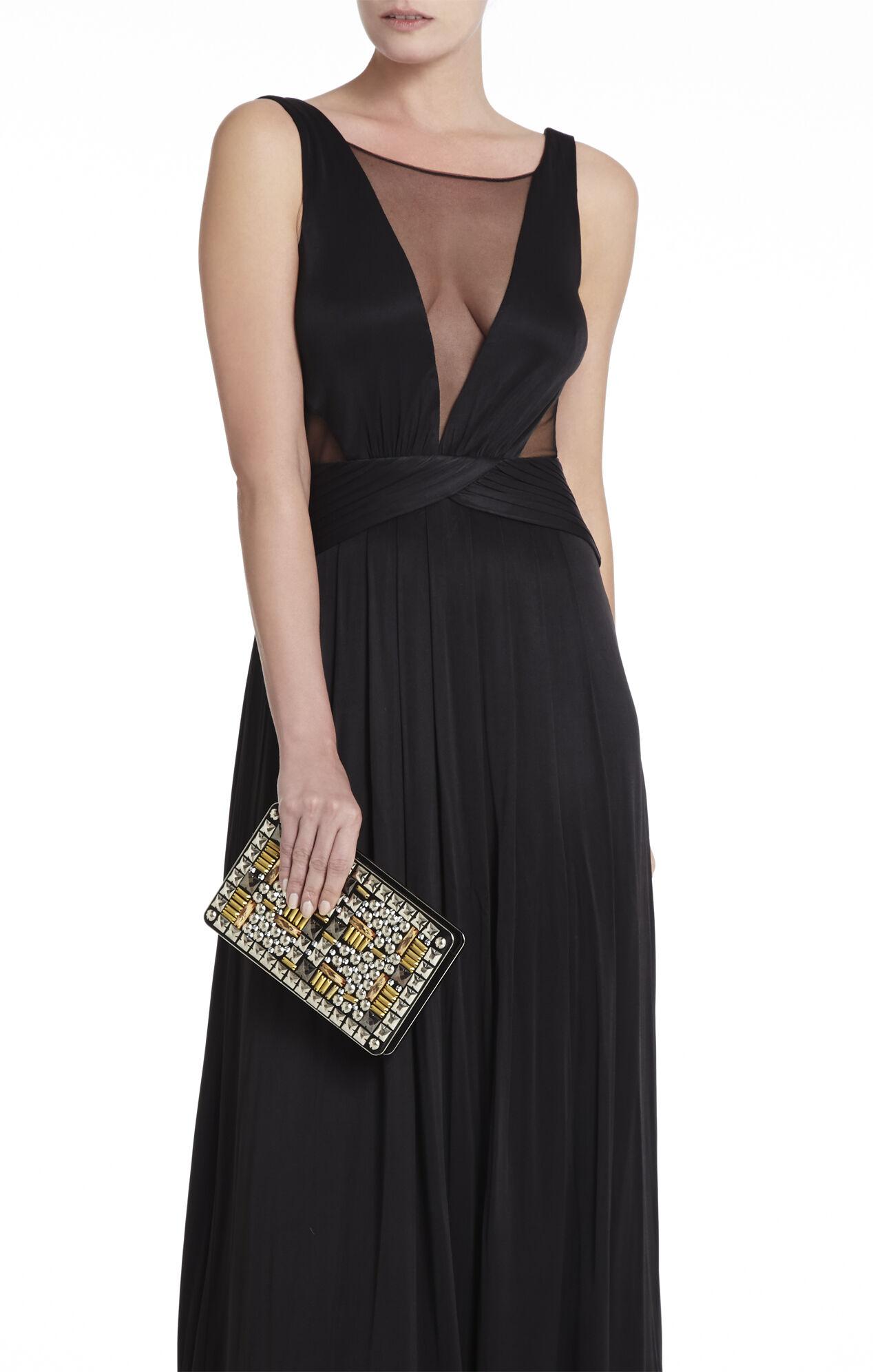 Taryn Studded Zip-Frame Clutch