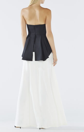 Evianna Color-Blocked Peplum Gown