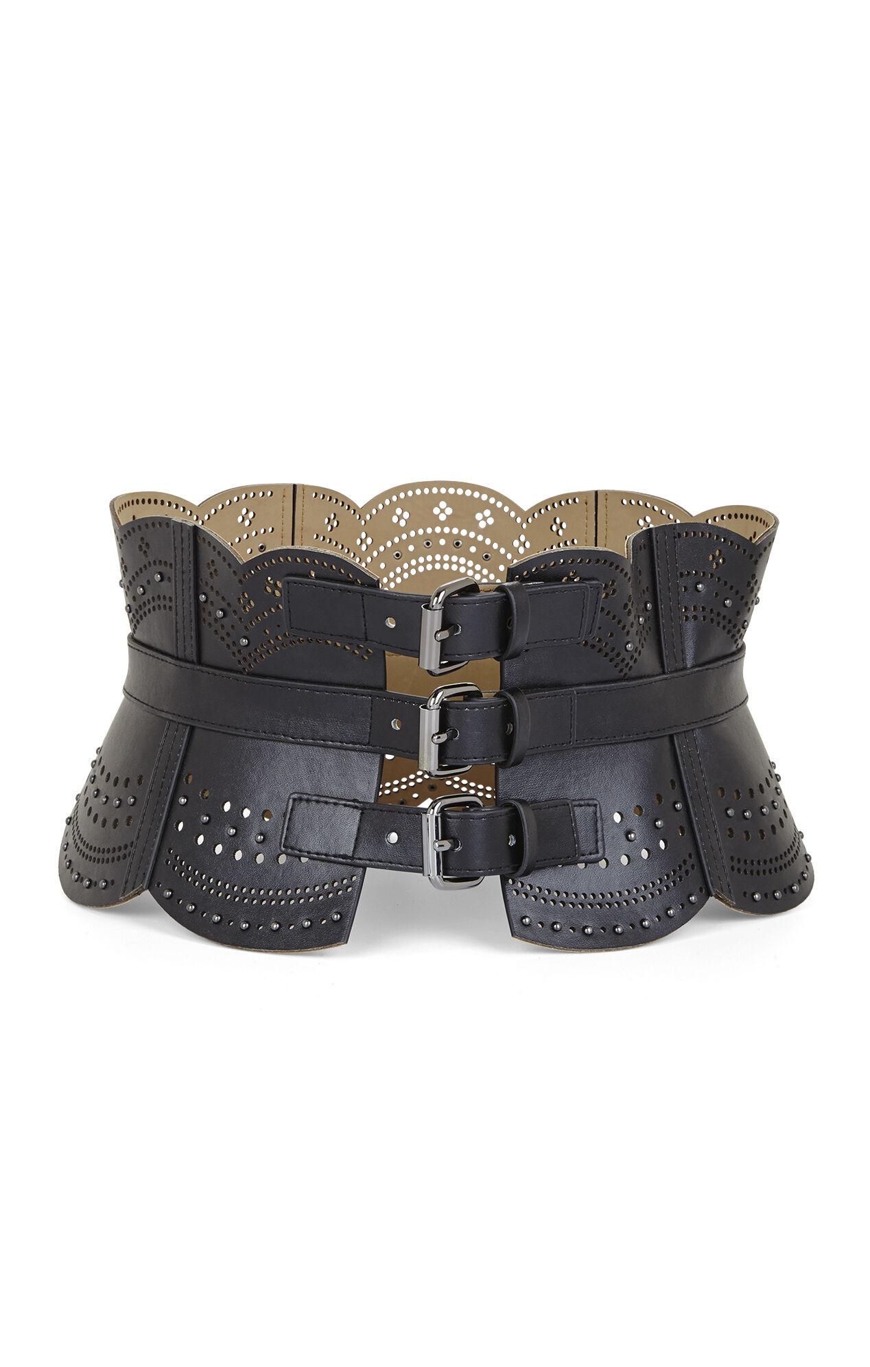 Scallop Cutout Corset Waist Belt