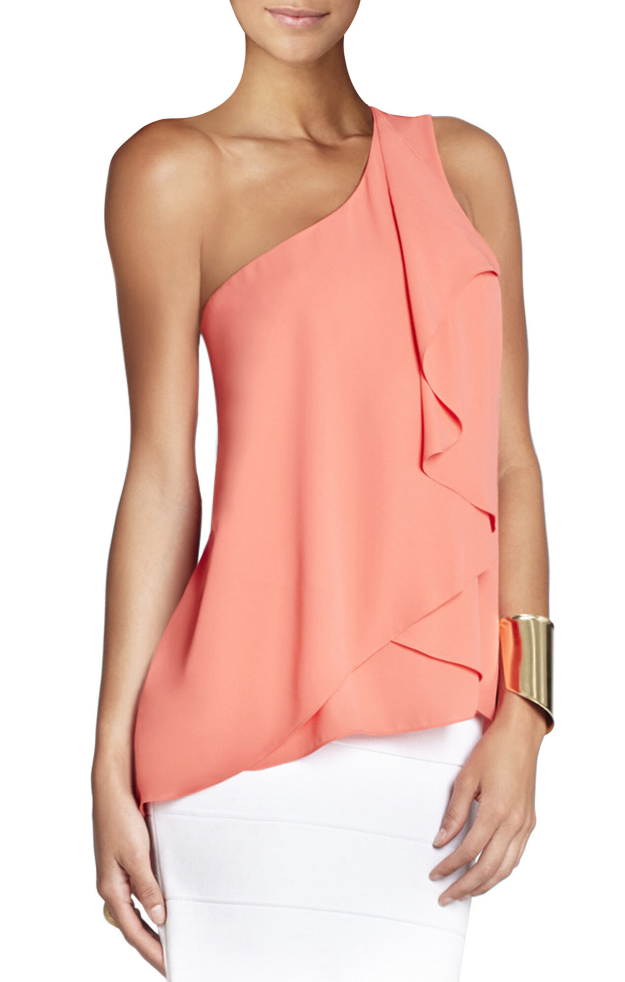 Lana One-Shoulder Draped Top