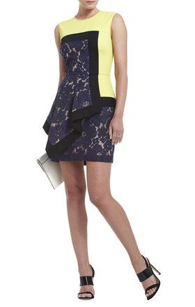 Alessandra Sleeveless Asymmetrical Peplum Dress