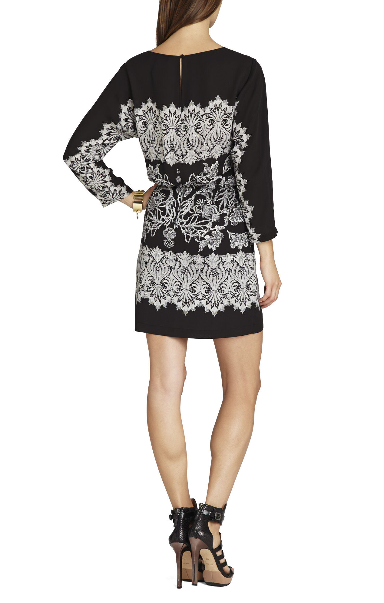 Simone Printed Long-Sleeve Dress