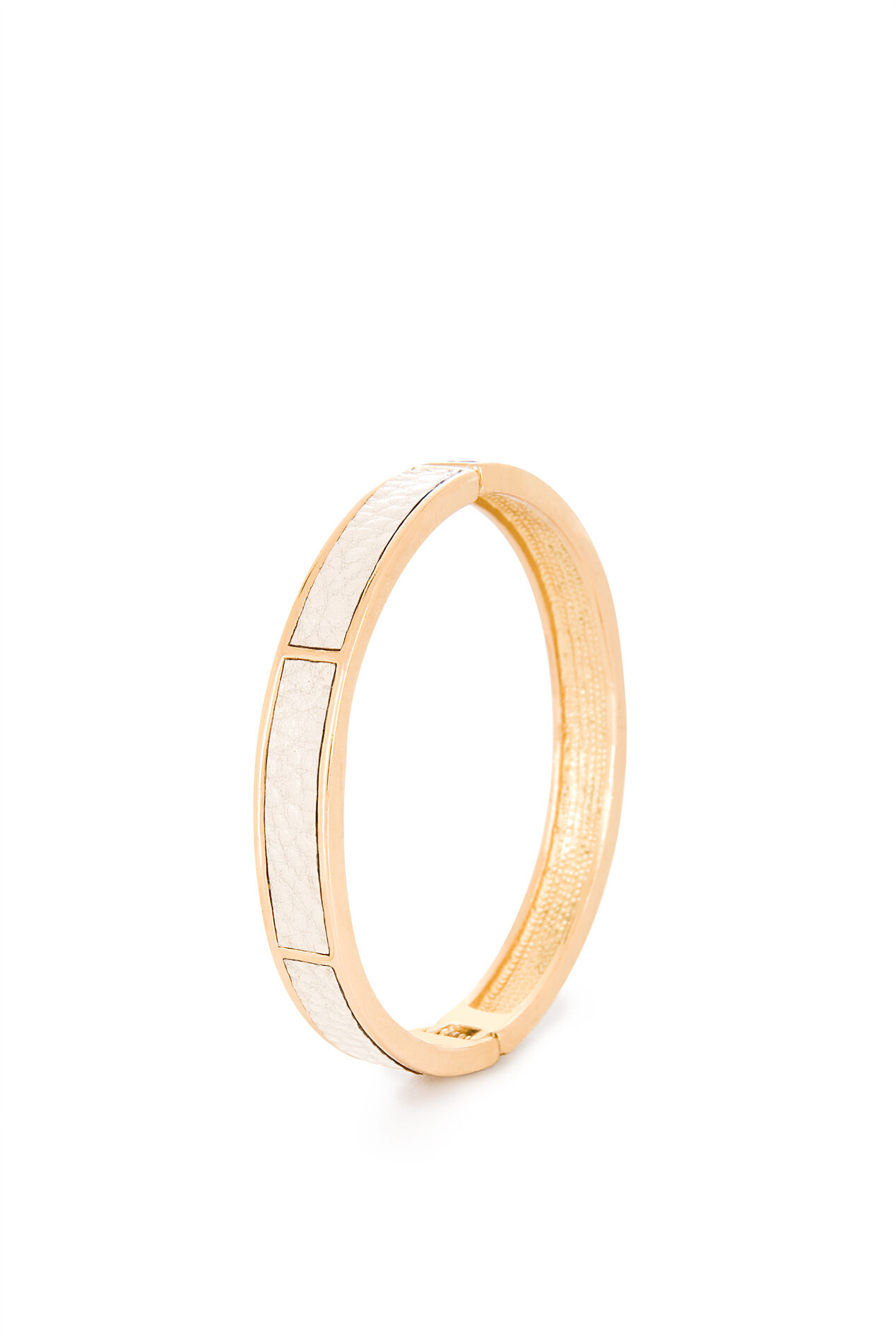 Leather-Frame Bangle