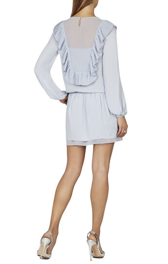 Kristey Pleated Ruffle Bib Dress