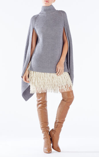 Jacinta Turtleneck Draped Sweater