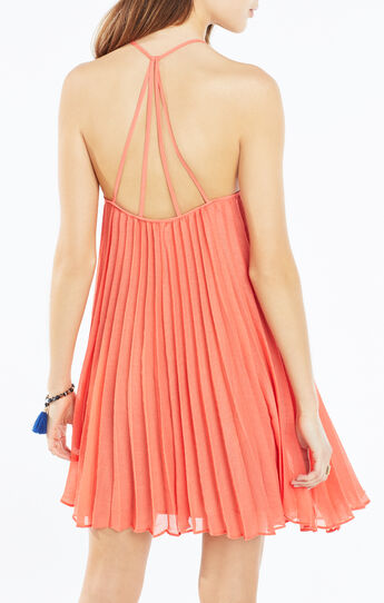 Giselle Strappy Pleated Dress