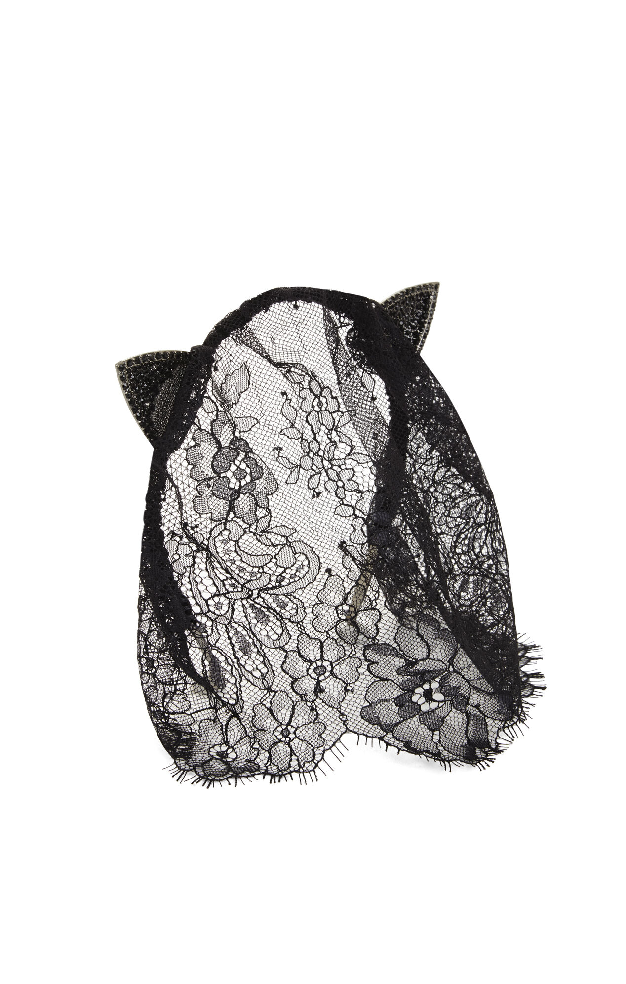 Veiled Pave Cat Ears Headband