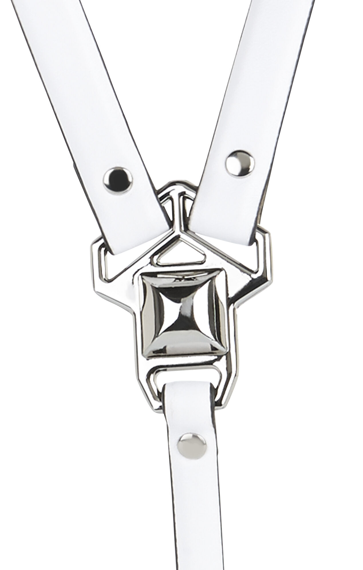 Pyramid-Stud Harness Waist Belt