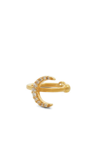 Pave Moon Ear Cuff