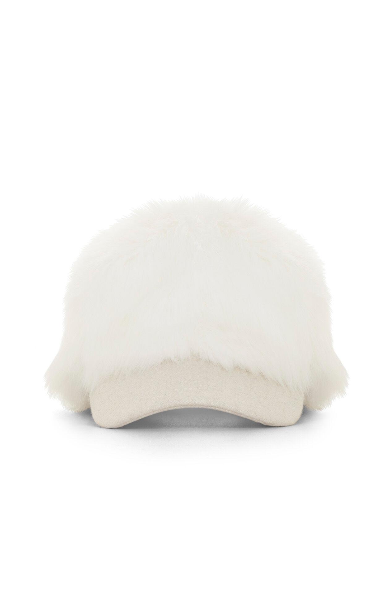 Faux-Fur Baseball Cap