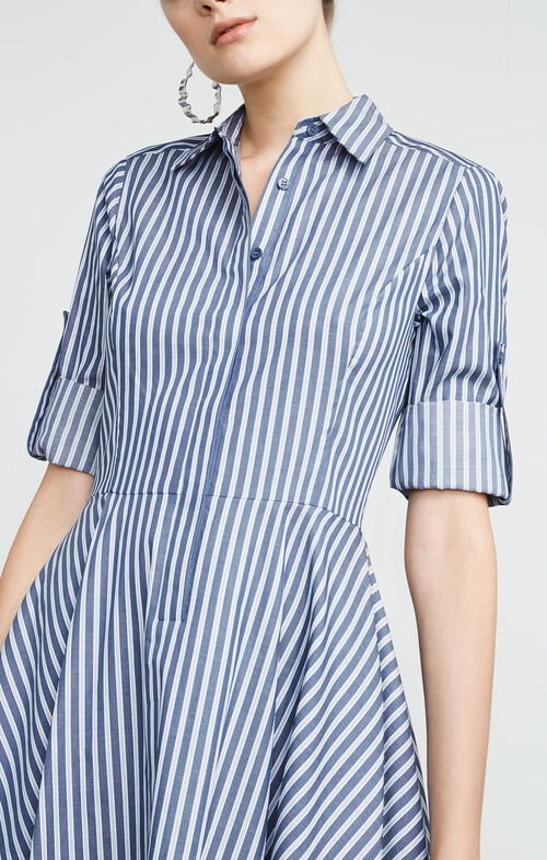 Beatryce Striped Shirt Dress