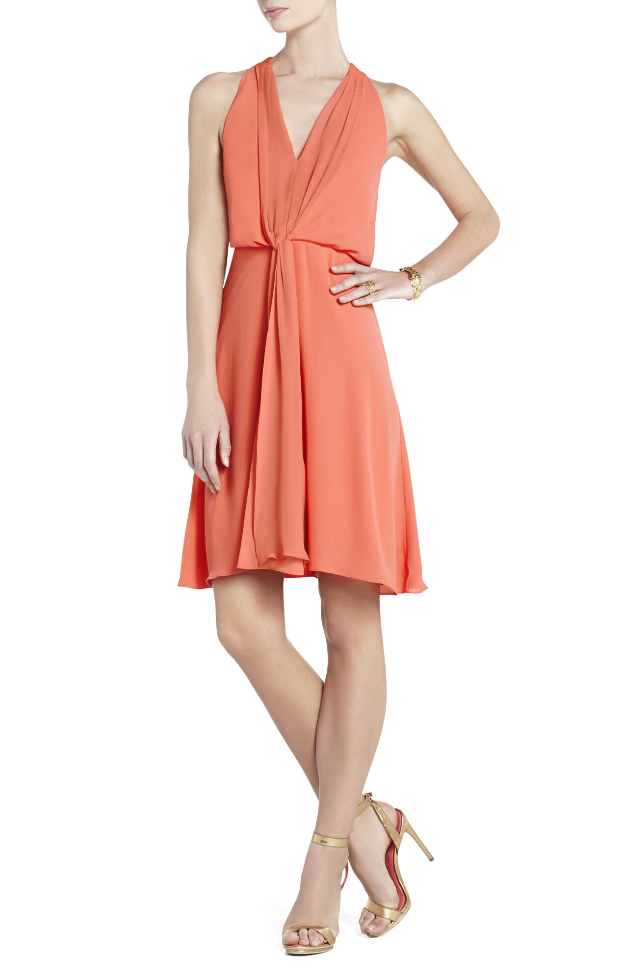 Marisa Knee-Length Halter Dress